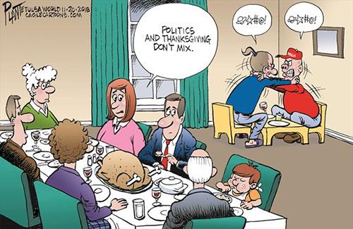 jpg Political Cartoon: Thanksgiving and politics