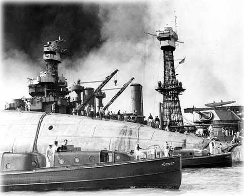 Front Page Photo USS Oklahoma