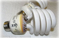 Fire hazard fears over compact fluorescent lamps at end of life