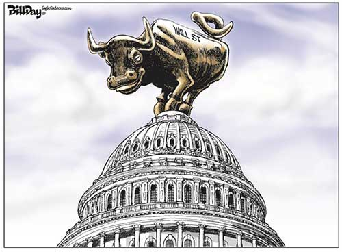 jpg POLITICAL CARTOON: WALL ST HEADQUARTERS