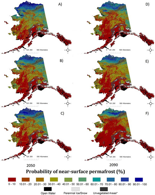 jpg Future permafrost distribution probabilities, based on future climate scenarios produced by the Intergovernmental Panel on Climate Change