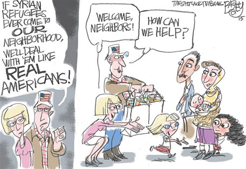 jpg Editorial Cartoon: Real Americans
