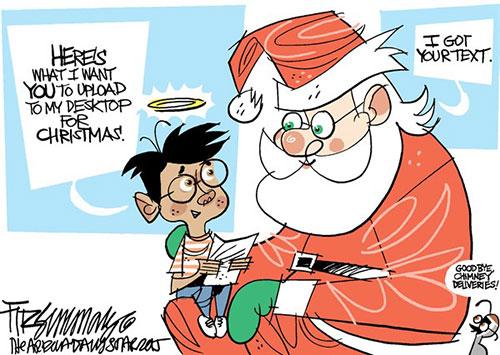 jpg Editorial Cartoon: Digital Holiday