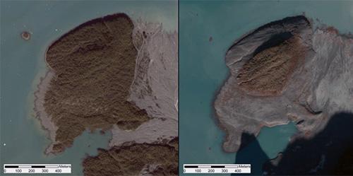 jpg An island in Taan Fiord, about 10 km from the landslide,