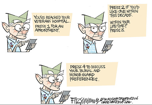 jpg Editorial Cartoon: Vet wait