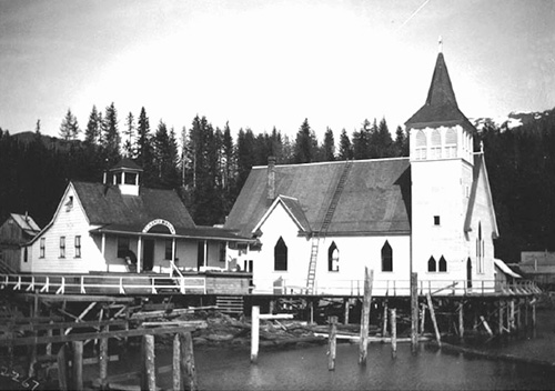 jgp St. John's Hospital in Ketchikan was part of St. John's Episcopal Church, on its right.