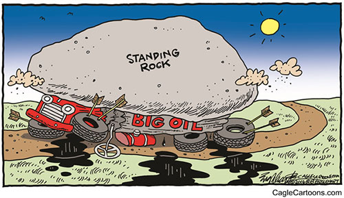 jgp Editorial Cartoon: Oil Pipeline, Permit Denied