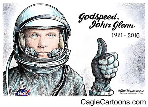 jpg Editorial Cartoon: John Glenn tribute