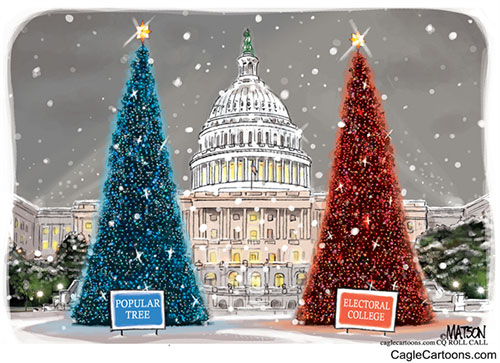 jpg Editorial Cartoon: Popular Vote Tree and Electoral College Tree