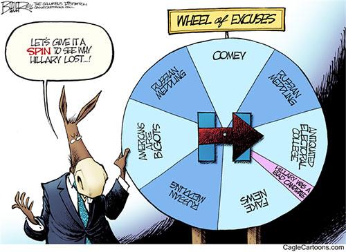 jpg Editorial Cartoon: Wheel of Excuses