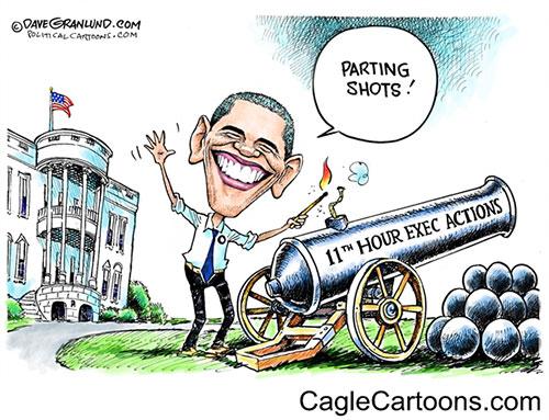 jpg Editorial Cartoon: Obama parting shots