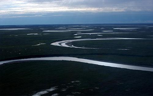 jpg ish Creek wanders through the National Petroleum Reserve-Alaska, a 22.8 million acre region..