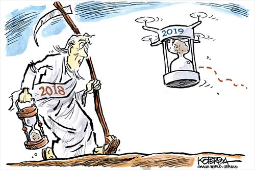 jpg Political Cartoon: Droning in the New Year