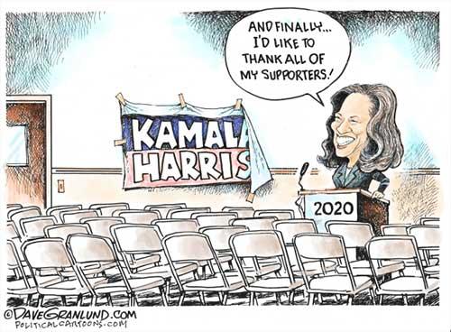 jpg Political Cartoon: Kamala Harris quits 2020 race