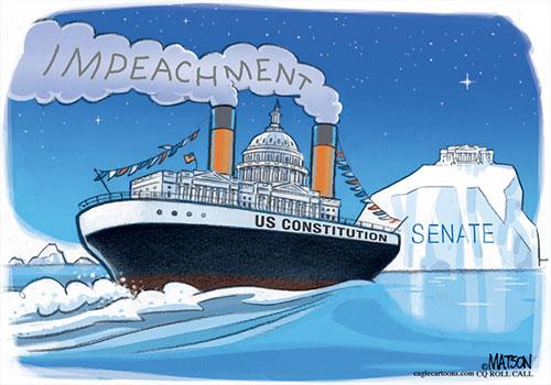 jpg Political Cartoon: House Goes Full Speed Ahead on Impeachment