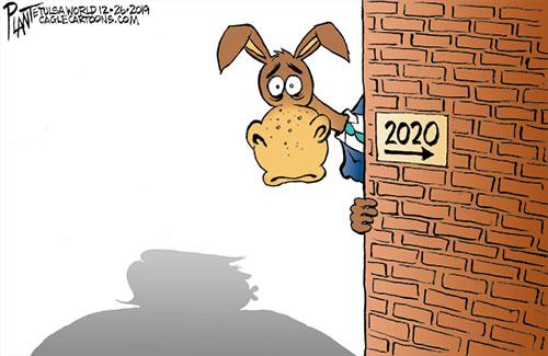 jpg Political Cartoon: Democrats peek at 2020