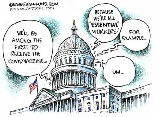 jpg Political Cartoon: COVID shots for Congress