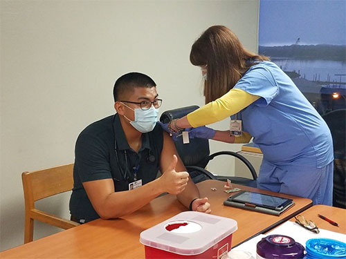 First COVID-19 Vaccines Being Administered in Ketchikan