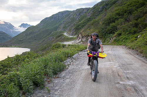 jpg Brent biking the Pile Bay-Williamsport Road from Cook Inlet to Lake Iliamna