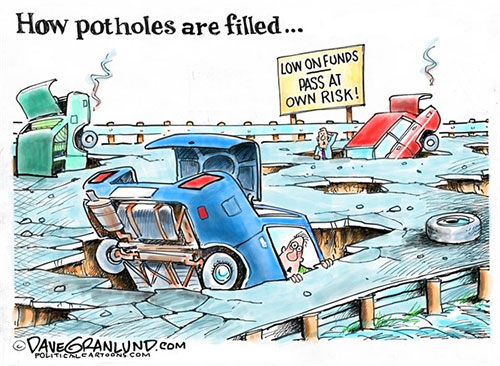 jpg Potholes filled  By Dave Granlund ©2018