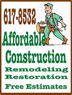 Affordable Construction - Remodeling, Restoration - Ketchikan, Alaska