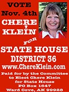 Chere Klein for Alaska House District 36 - Ketchikan, Alaska