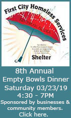 8th Annual Empty Bowls Dinner - March 23, 2019 - Ketchikan, Alaska