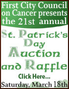 First City Council on Cancer - 21st Annual St. Patrick's Day Auction - Ketchikan, Alaska