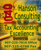 Hanson Consulting - Tax Accounting Excellence - Ketchikan, Alaska 