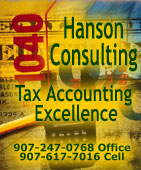 Hanson Consulting, Tax Accounting Excellence - Ketchikan, Alaska