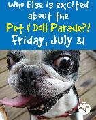 40th Annual Blueberry Arts Festival - Pet & Doll Parade - Ketchikan, Alaska