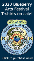 Ketchikan Area Arts & Humanities Council - 2020 Blueberry Arts Festival T-shirts