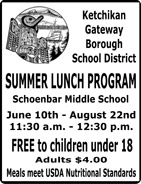 Ketchikan Gateway Borough School District - Summer Lunch Program