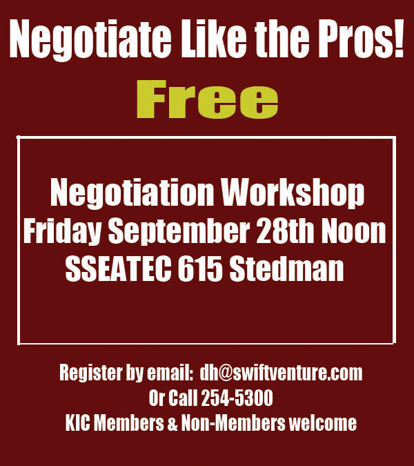 Negotiate Like The Pros! Free Negotiation Workshop - Ketchikan, Alaska
