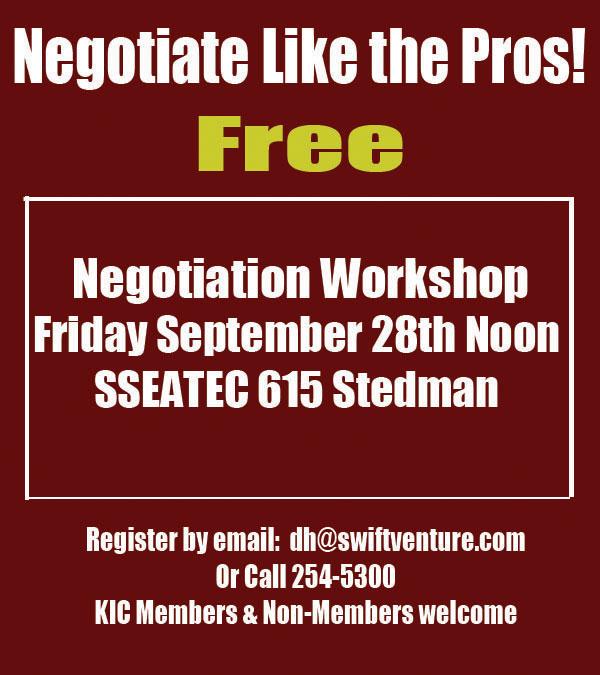 Negotiate Like The Pros! Free Negotiation Workshop - Ketchikan, Alaska
