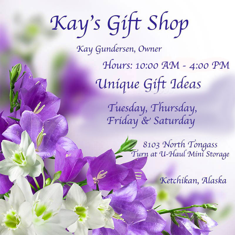 Kay's Gift Shop - Kay Gundersen, Owner - Ketchikan, Alaska - Unique Gift Ideas