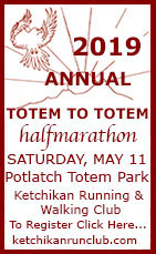 2019 Annual Totem to Totem halfmarathon - Ketchikan, Alaska - May 11, 2019