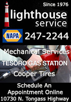 Lighthouse Service - Ketchikan, Alaska - Tesoro Gas Station, Mechanical Services, Coooper Tires