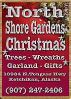 North Shore Gardens - Christmas Trees - Wreaths - Garland - Gifts, Ketchikan, Alaska