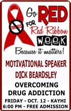 Red Ribbon Week: Motivational Speaker Dick Beardsley