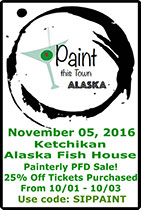 Paint This Town Alaska - Ketchikan Event at the Alaska Fish House on November 06, 2016