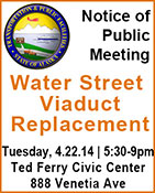 Notice of Public Meeting Water Street Viaduct Replacement