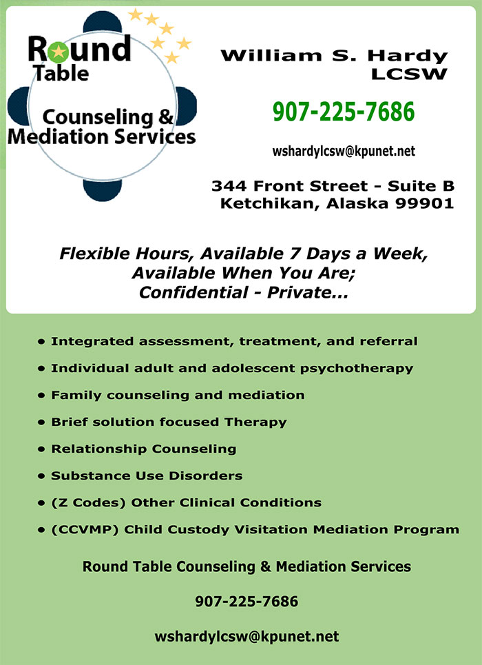 jpg Round Table Counseling & Mediation Services - Ketchikan, Alaska - William S. Hardy, LCSW