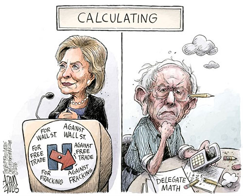 jpg Sanders Burns Out Versus Hillary
