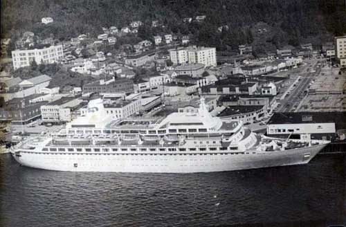 Front Page Photo - Island Princess mid 1970s