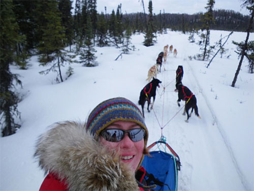 jpg Ketchikan's Angie Taggart completed her second Iditarod Sled race in 2013.