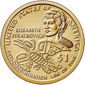 jpg The US Mint released a commemorative $1 dollar coin featuring Alaska Native Civil Rights Leader Elizabeth Peratrovich.