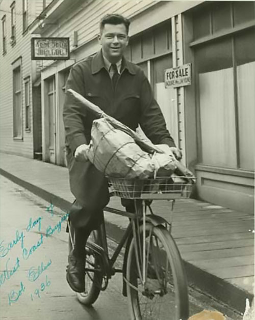 jpg Bob Ellis on Bicycle, 1936