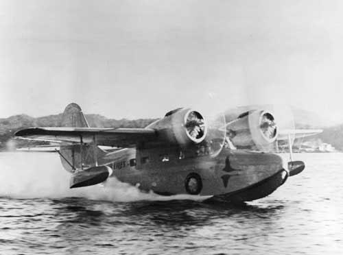 jpg Ellis Airlines goose taking off, circa 1959