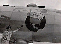 WW II Bomber honored the First City